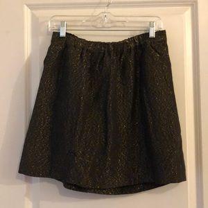 Madewell metallic skirt with pockets. Medium.